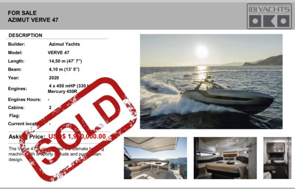 FOR SALE: AZIMUT VERVE 47